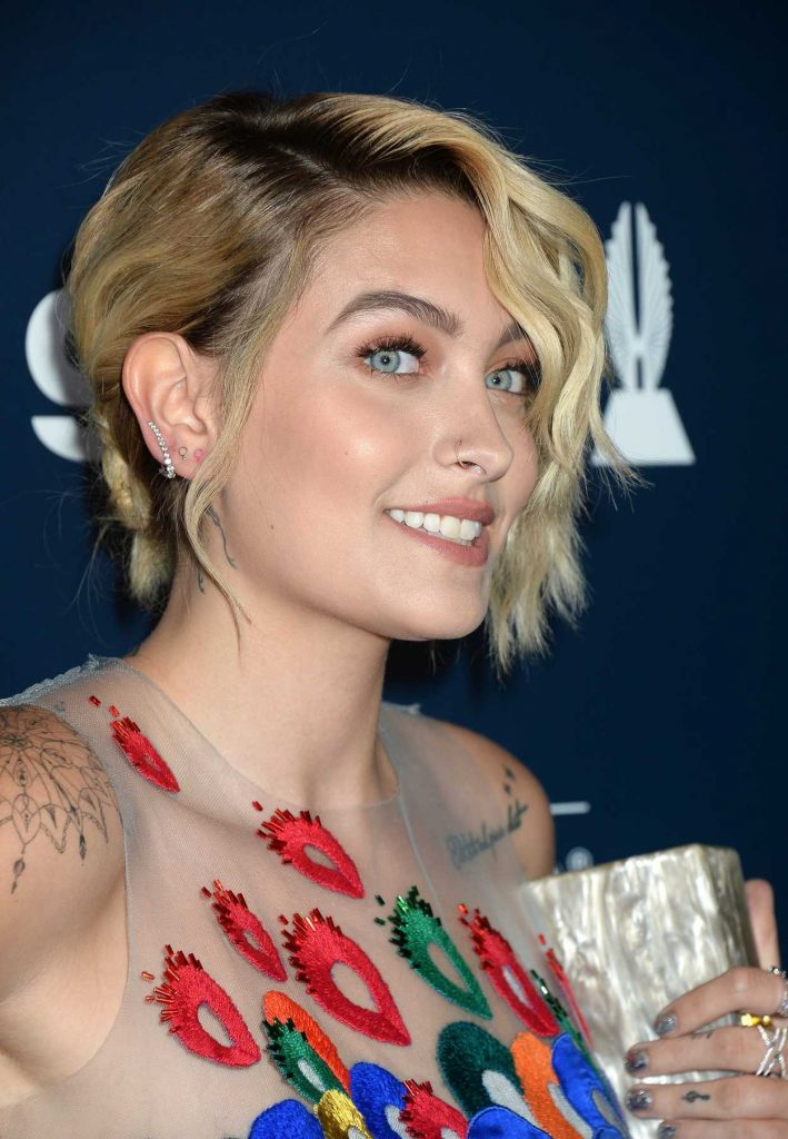 Paris Jackson at the 28th Annual GLAAD Media Awards in Los Angeles 04/01/2017-5