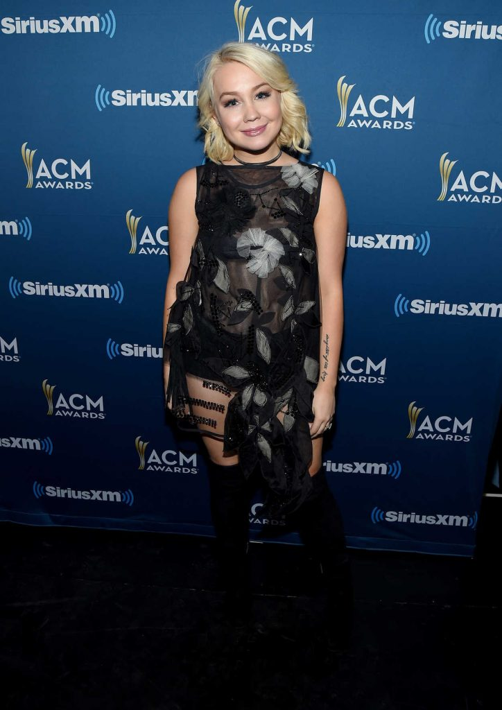 RaeLynn at the Highway Channel Broadcasts Backstage at T-Mobile Arena in Las Vegas 03/31/2017-1