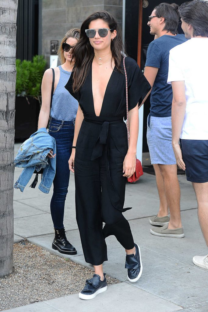 Sara Sampaio Leaves a Lunch at Spago in LA 04/12/2017-2