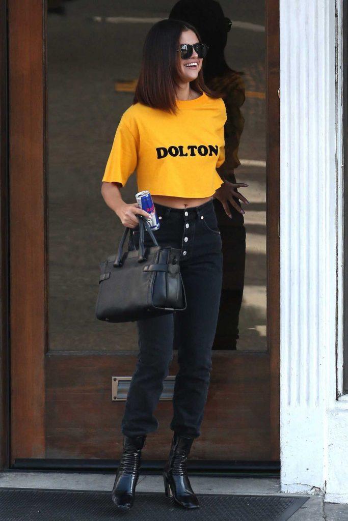 Selena Gomez Leaves a Shamrock Tattoo in Hollywood 04/09/2017-1
