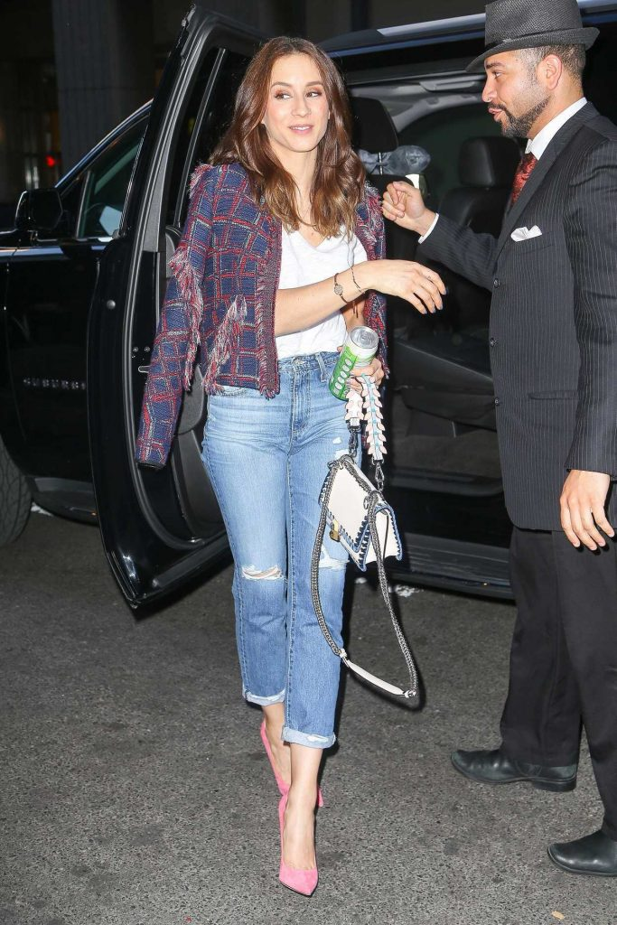 Troian Bellisario Returns to Her Hotel in NYC 04/17/2017-1