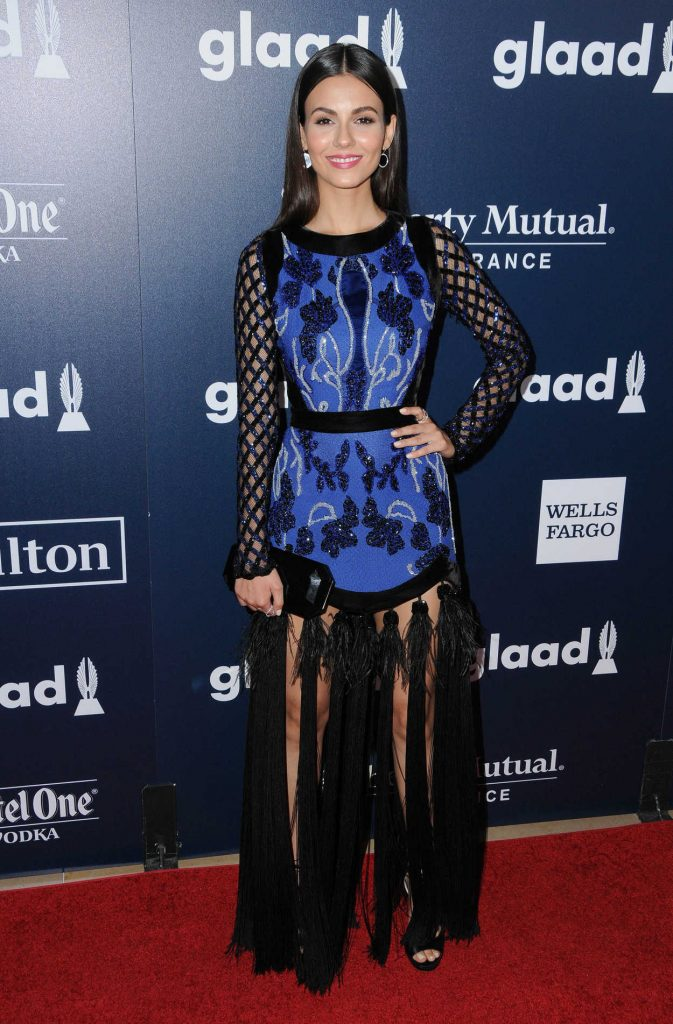 Victoria Justice at the 28th Annual GLAAD Media Awards in Los Angeles 04/01/2017-1