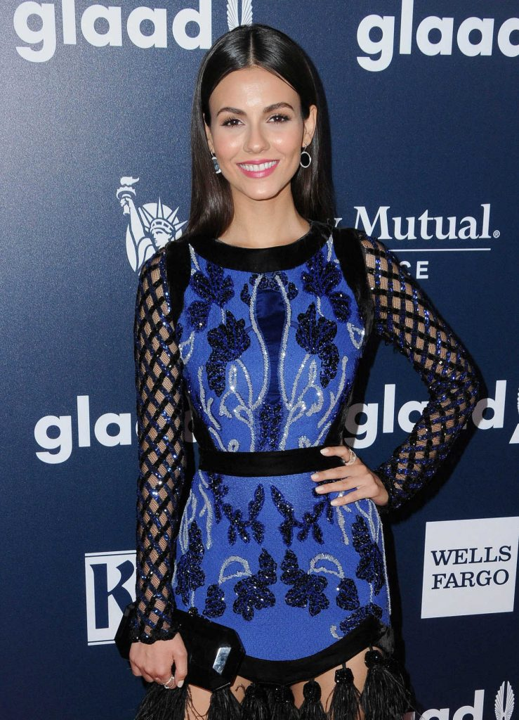 Victoria Justice at the 28th Annual GLAAD Media Awards in Los Angeles 04/01/2017-4