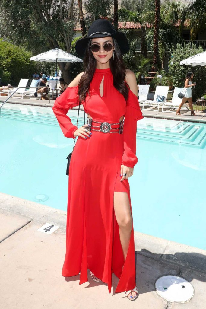 Victoria Justice Attends POPSUGAR and CFDA's Brunch During the Coachella Valley Music and Arts Festival in Palm Springs 04/15/2017-1