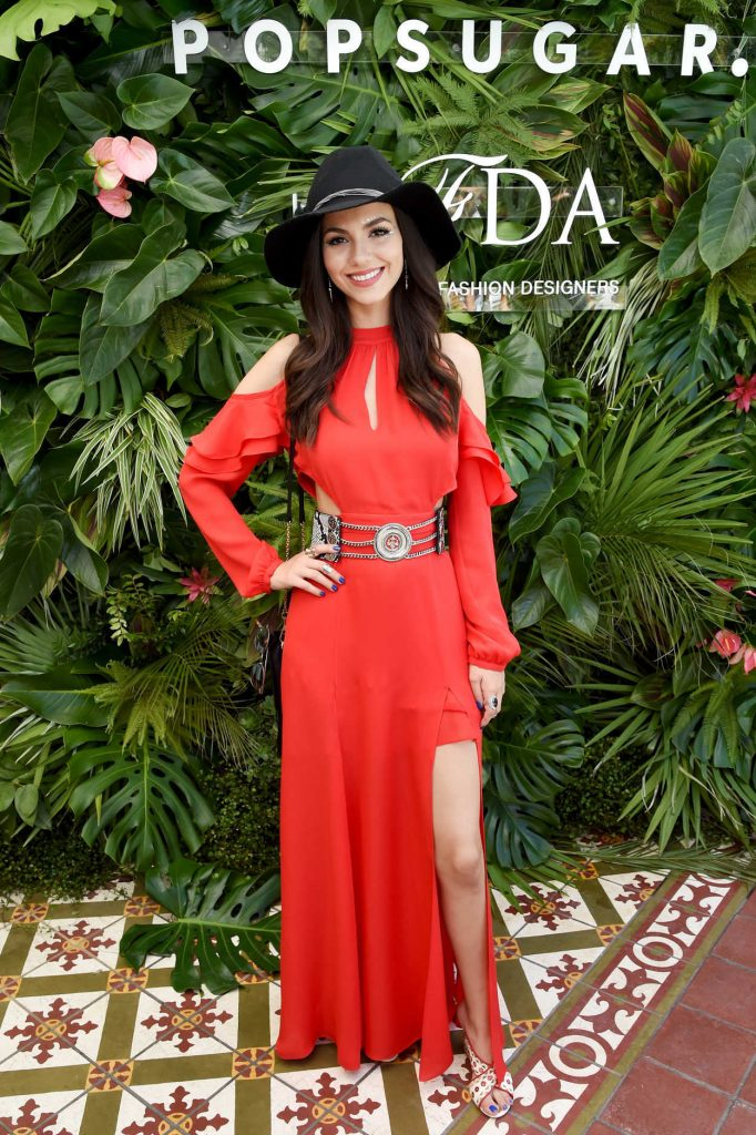 Victoria Justice Attends POPSUGAR and CFDA's Brunch During the Coachella Valley Music and Arts Festival in Palm Springs 04/15/2017-5