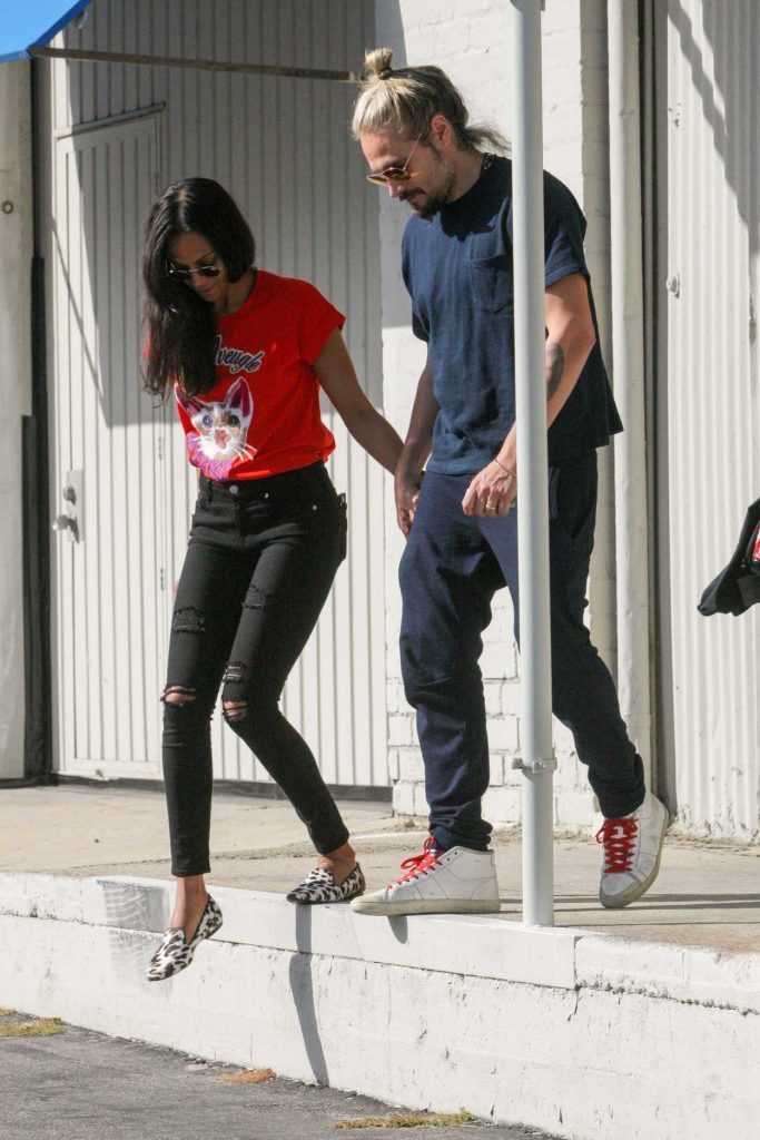 Zoe Saldana Was Seen Out in West Hollywood 04/14/2017-2