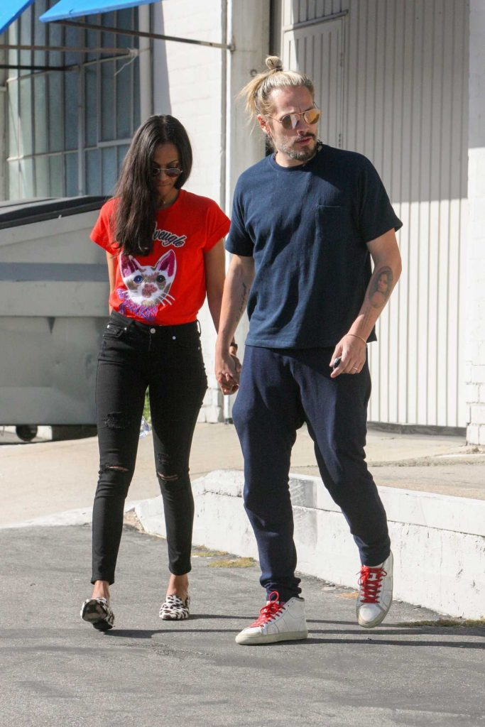 Zoe Saldana Was Seen Out in West Hollywood 04/14/2017-3