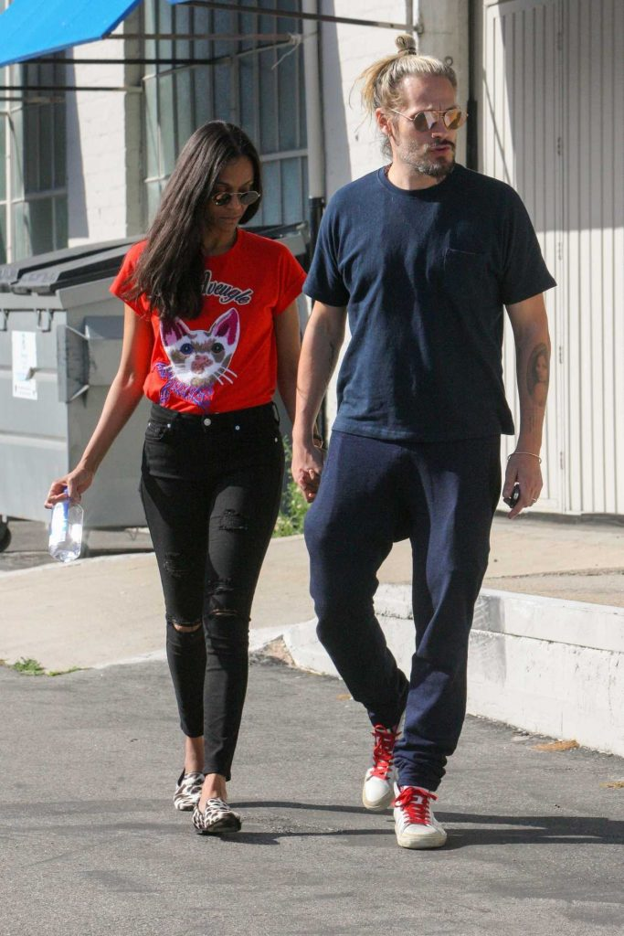 Zoe Saldana Was Seen Out in West Hollywood 04/14/2017-4