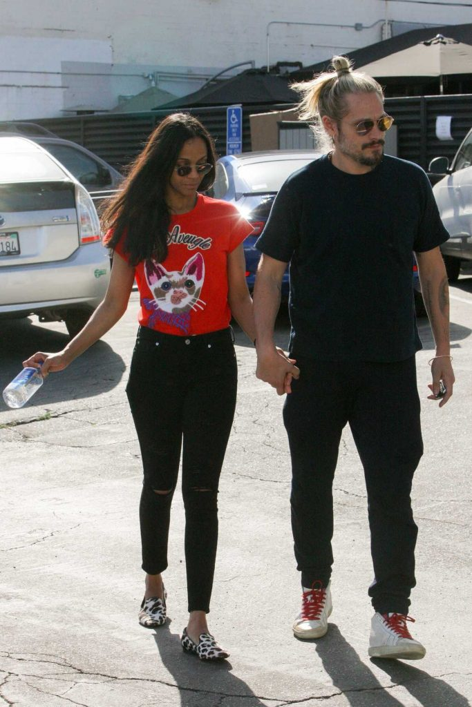 Zoe Saldana Was Seen Out in West Hollywood 04/14/2017-5