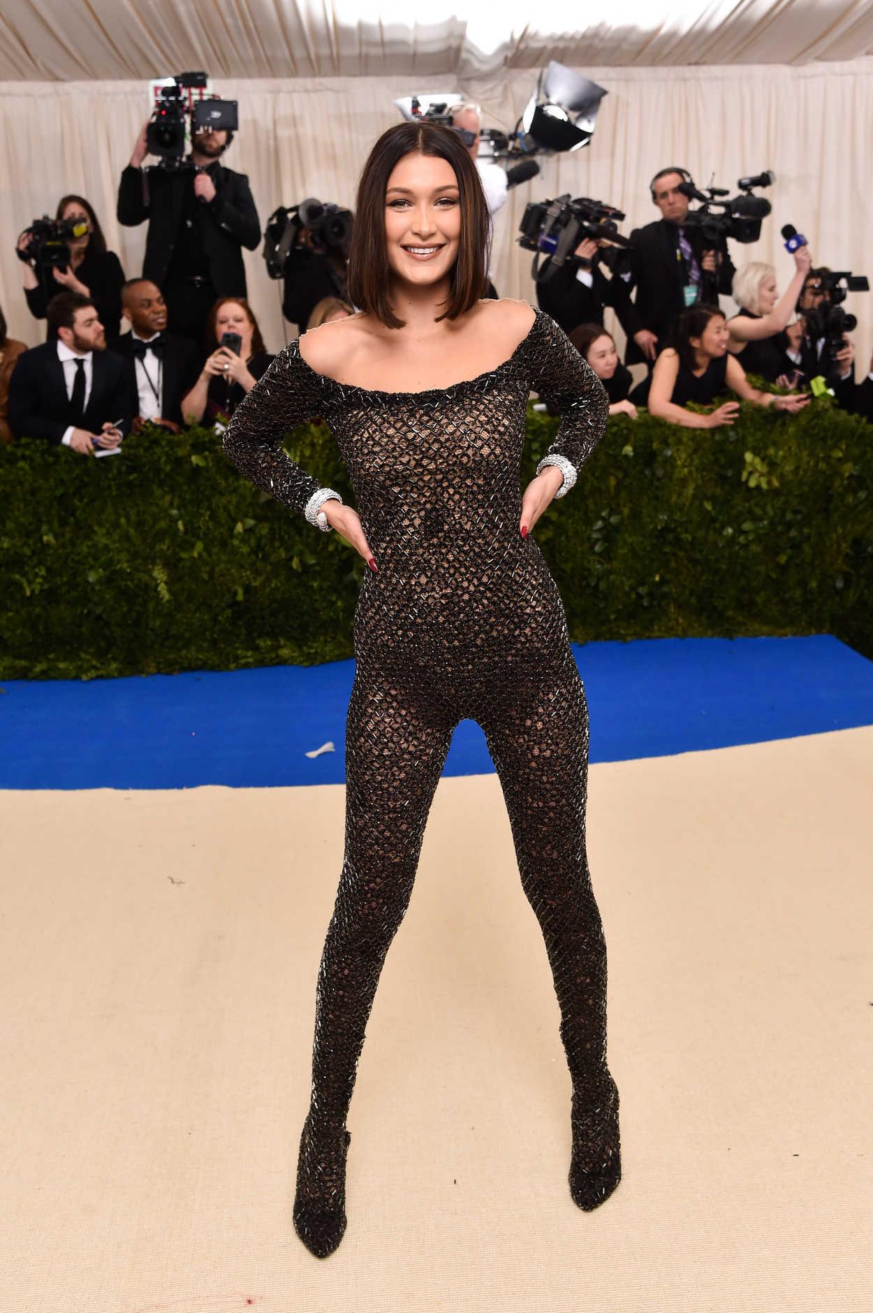 Bella Hadid At The 2017 Met Gala At The Metropolitan