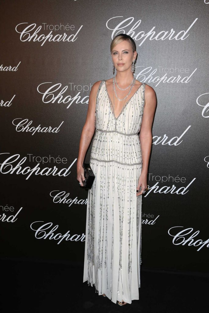 Charlize Theron at the Chopard Trophy Event in Cannes 05/22/2017-2