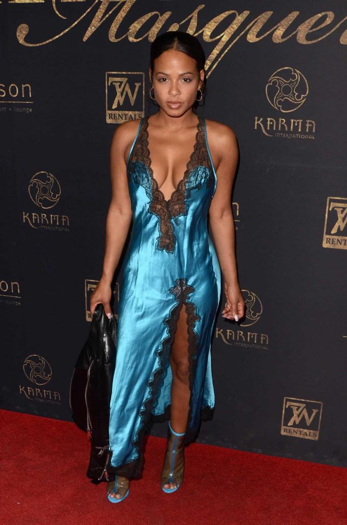 Christina Milian at the Karma International's 9th Annual Karma Masquerade at Liaison Lounge in Los Angeles 05/20/2017-1