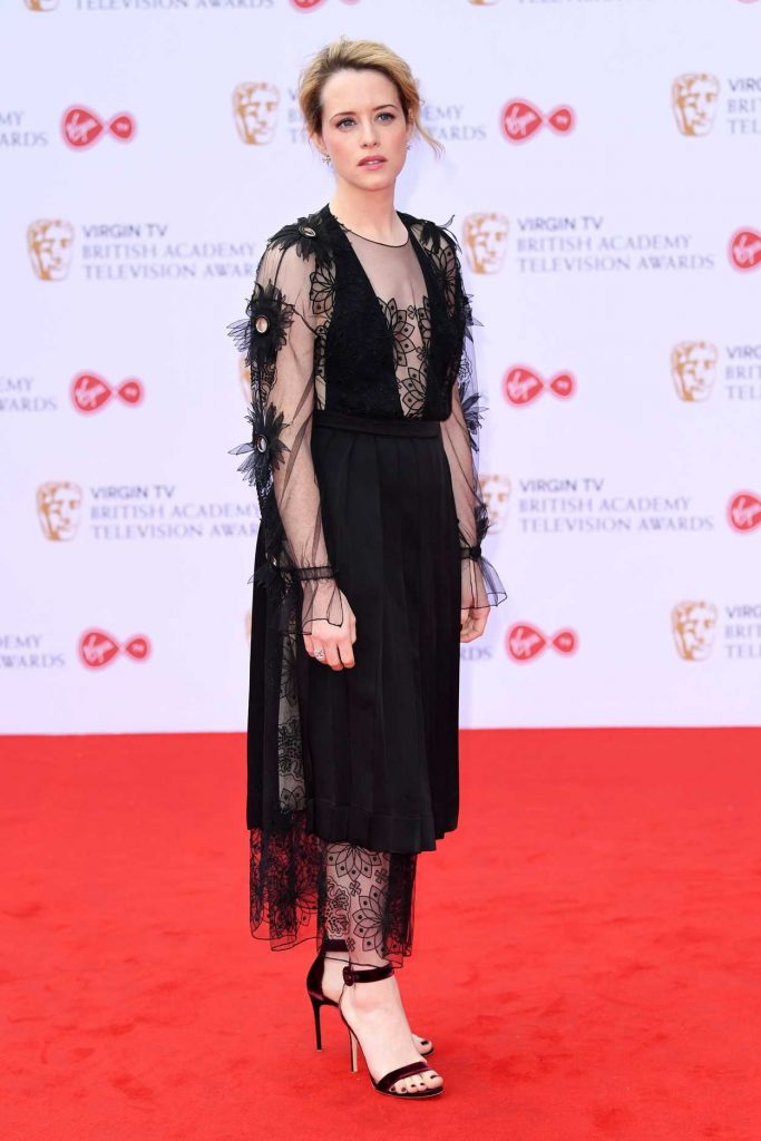 Claire Foy at he 2017 British Academy Television Awards in London 05/14/2017-3