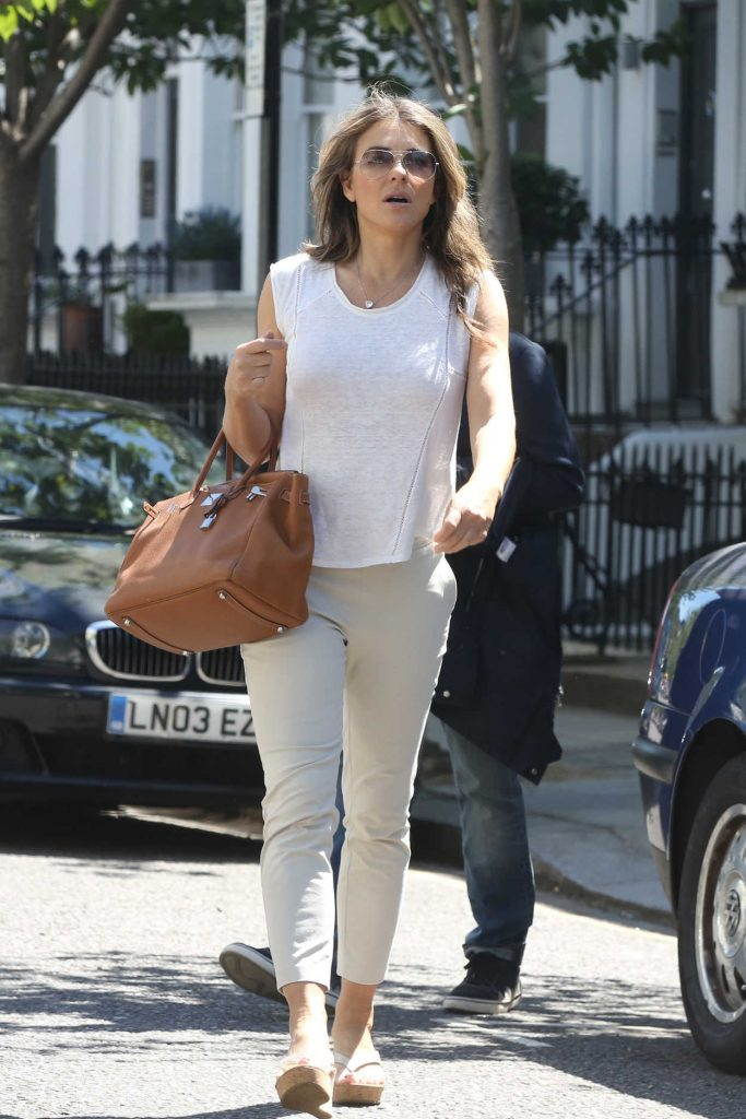 Elizabeth Hurley Leaves Her House in London 05/30/2017-1