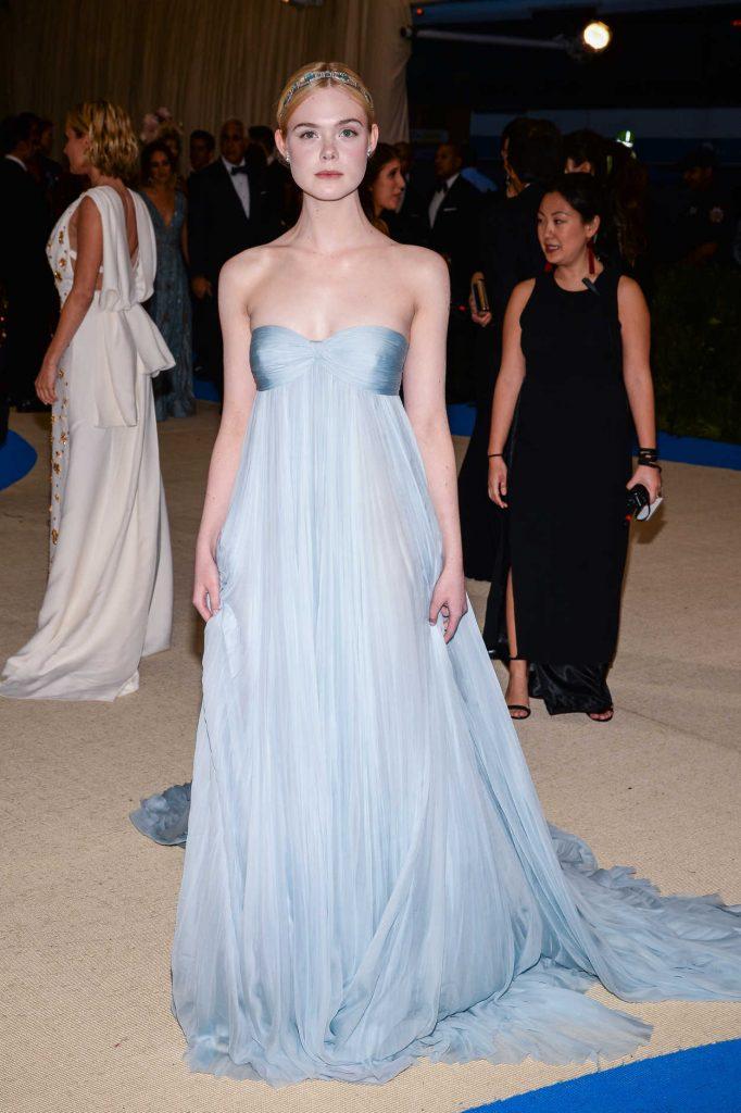 Elle Fanning at the 2017 Met Gala at The Metropolitan Museum of Art in New York 05/01/2017-1