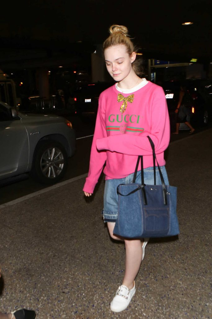 Elle Fanning Was Spotted at LAX Airport in LA 05/25/2017-1