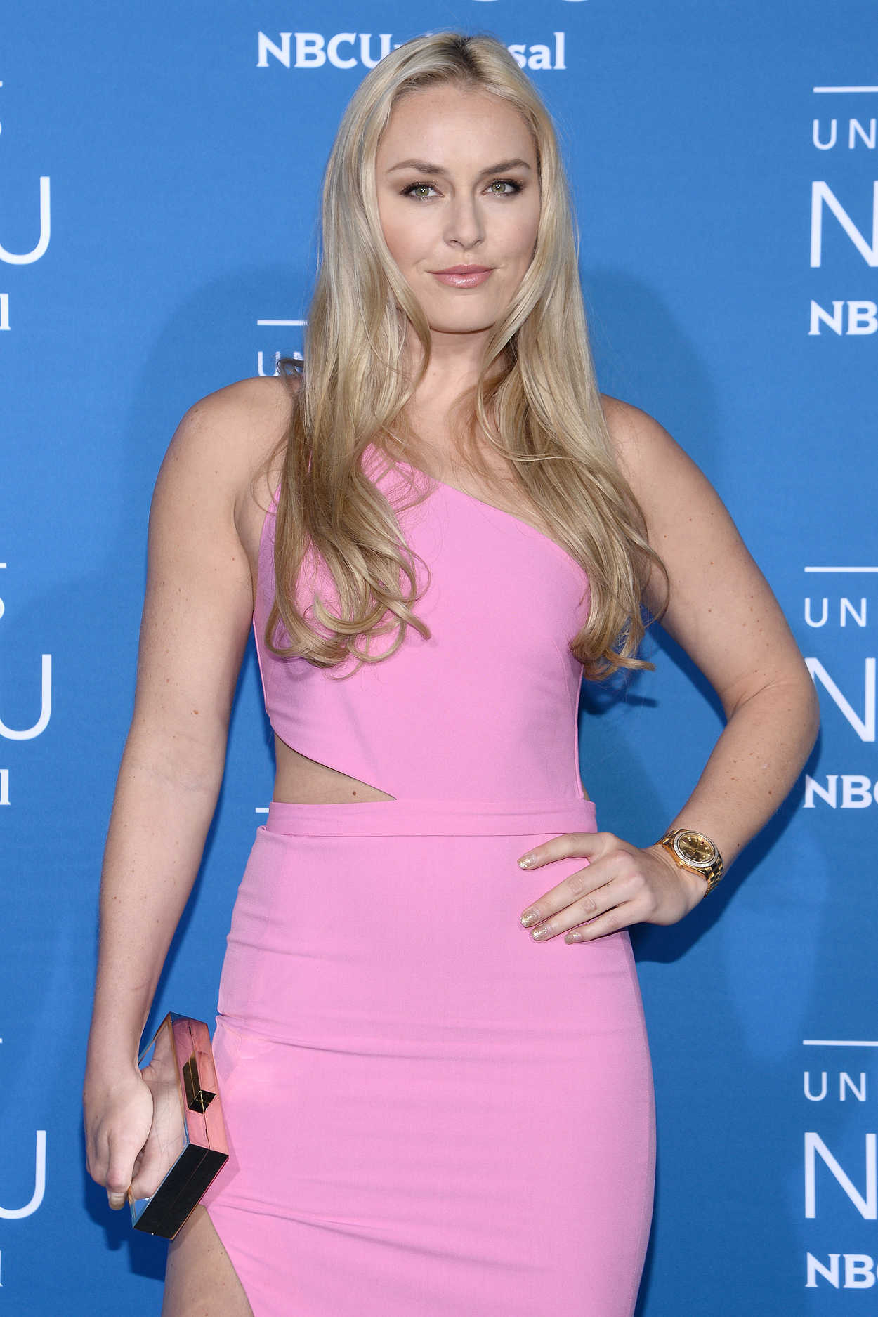 lindsey vonn at the nbcuniversal upfront in new york city
