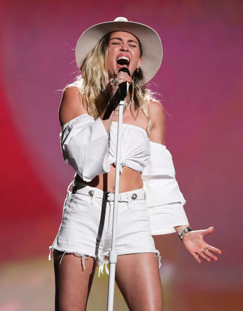 Miley Cyrus at the 2017 Billboard Music Awards in Las Vegas 05/21/2017-3