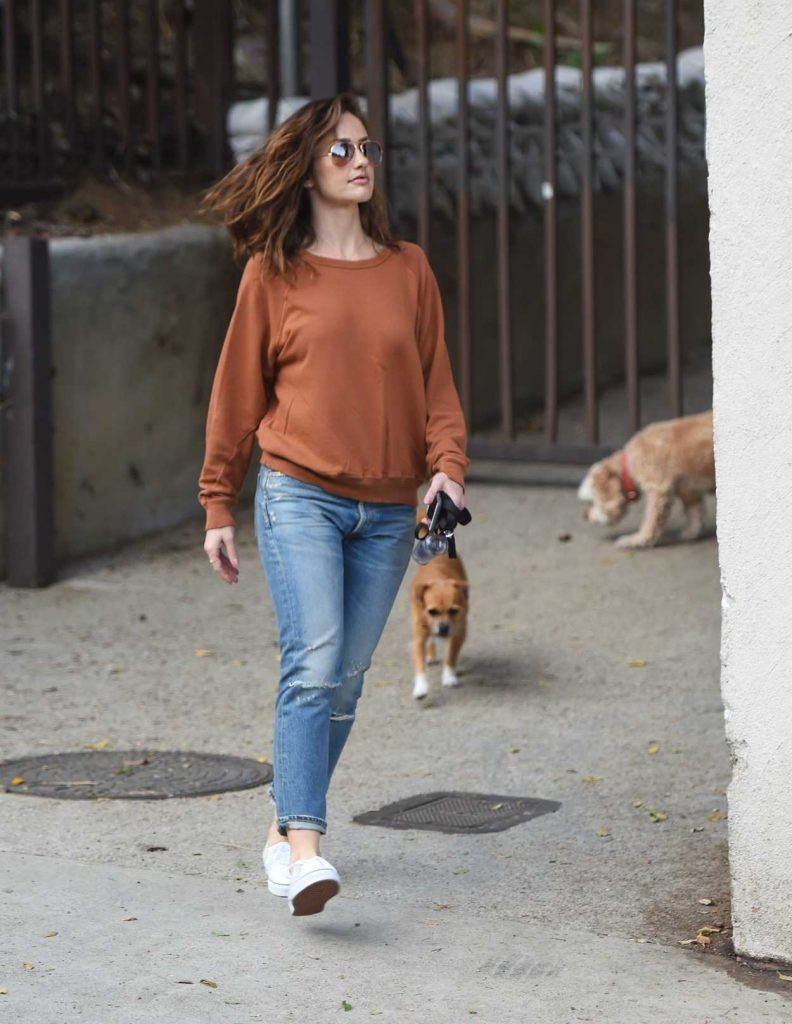 Minka Kelly Walks Her Dogs in Hollywood 05/26/2017-3