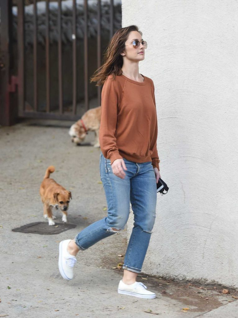 Minka Kelly Walks Her Dogs in Hollywood 05/26/2017-5