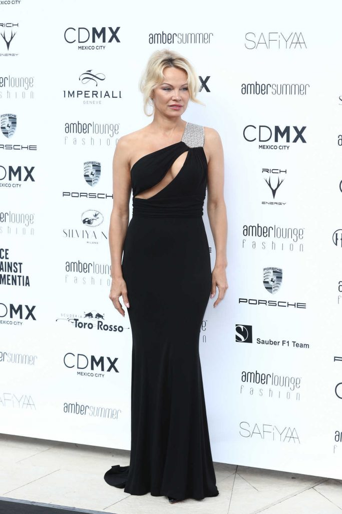 Pamela Anderson at Amber Lounge Fashion Monaco 2017 at Le Meridien Beach Plaza in Cannes 05/26/2017-1