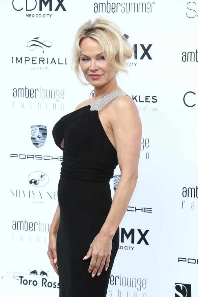 Pamela Anderson at Amber Lounge Fashion Monaco 2017 at Le Meridien Beach Plaza in Cannes 05/26/2017-5