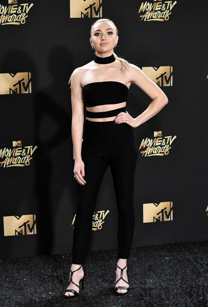 Peyton List at 2017 MTV Movie and TV Awards in Los Angeles 05/07/2017-3