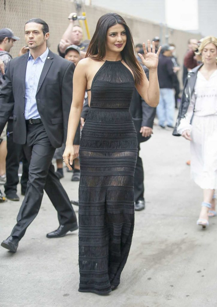 Priyanka Chopra Arrives at Jimmy Kimmel Live in Los Angeles 05/09/2017-3