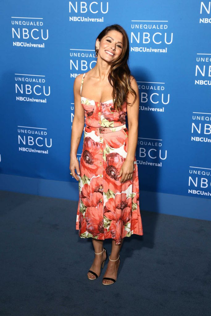 Sarah Shahi at the NBCUniversal Upfront in New York City 05/15/2017-2