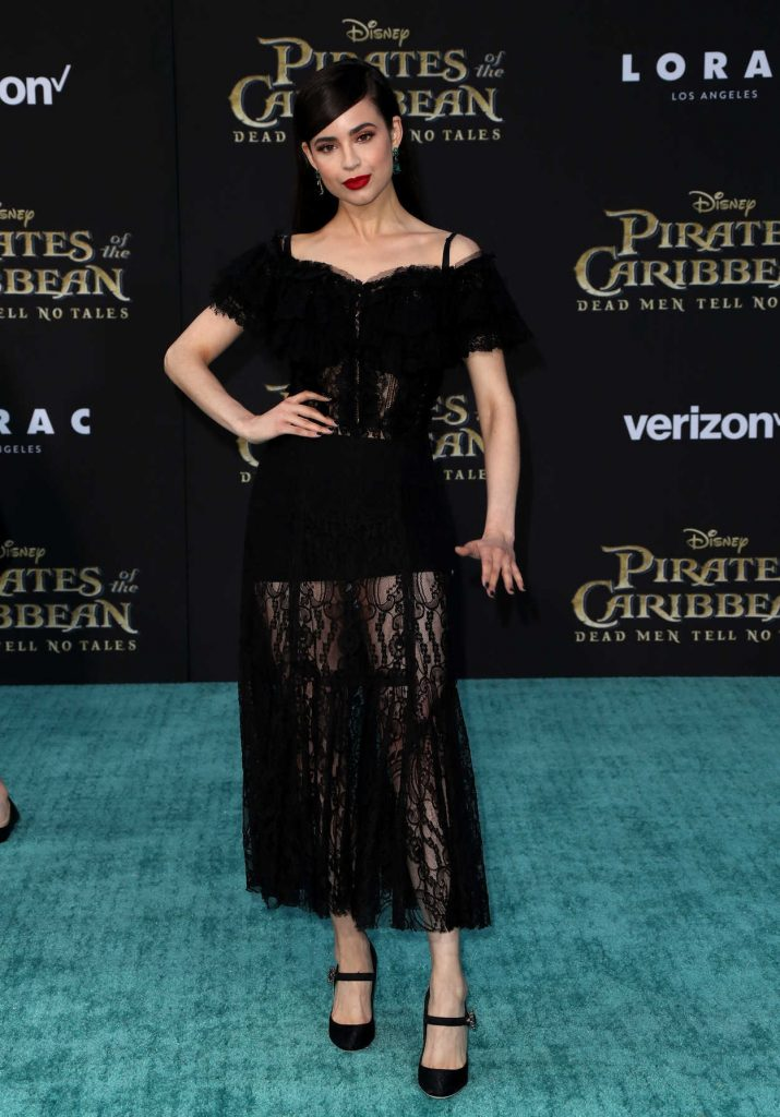 Sofia Carson at the Pirates of the Caribbean: Dead Men Tell no Tales Premiere in Hollywood 05/18/2017-1