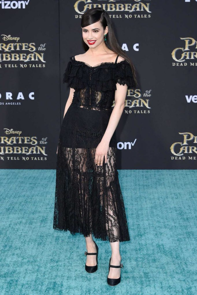 Sofia Carson at the Pirates of the Caribbean: Dead Men Tell no Tales Premiere in Hollywood 05/18/2017-2