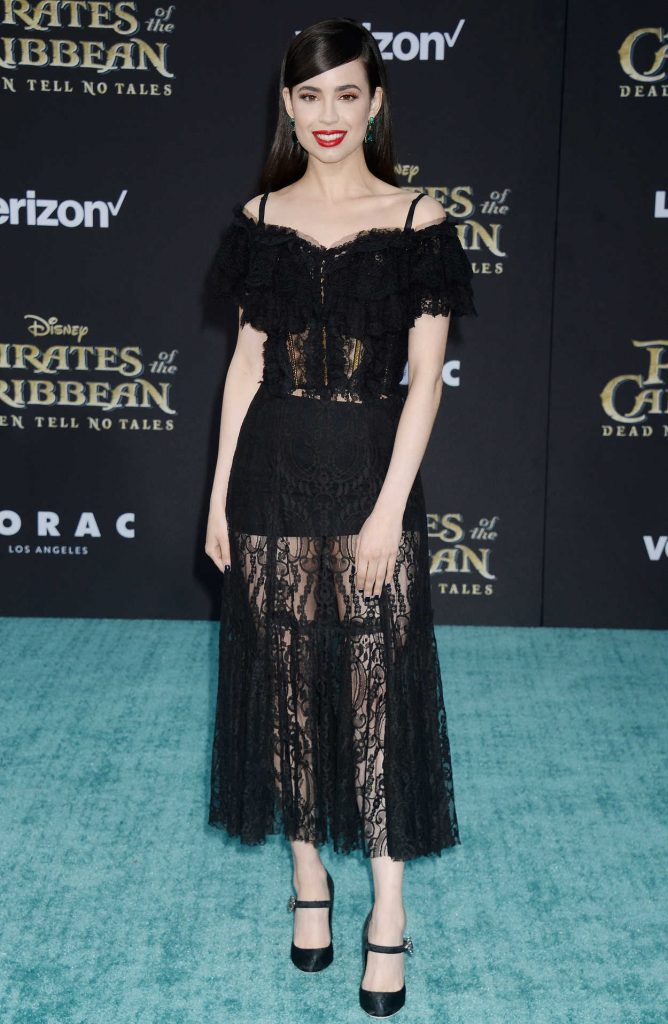 Sofia Carson at the Pirates of the Caribbean: Dead Men Tell no Tales Premiere in Hollywood 05/18/2017-4