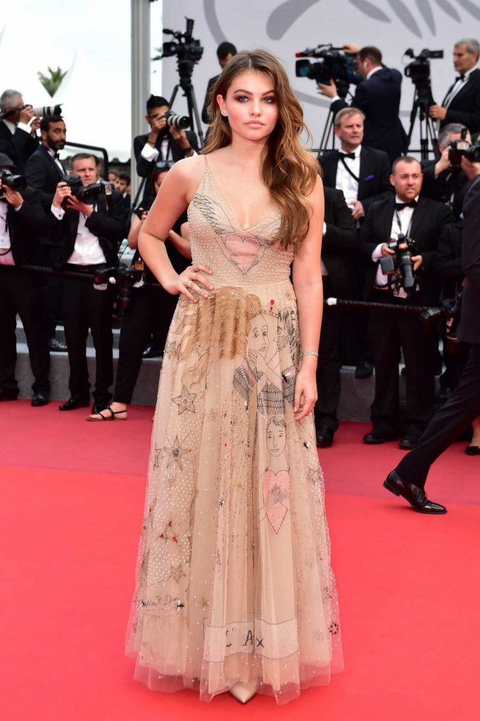 Thylane Blondeau at the Loveless Premiere During the 70th Cannes Film Festival 05/18/2017-2