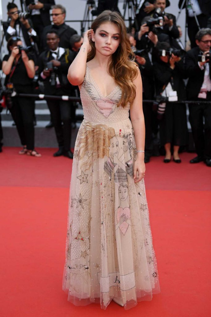Thylane Blondeau at the Loveless Premiere During the 70th Cannes Film Festival 05/18/2017-3