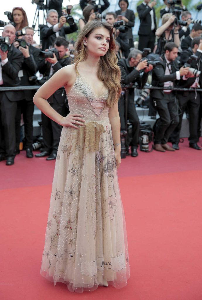 Thylane Blondeau at the Loveless Premiere During the 70th Cannes Film Festival 05/18/2017-4