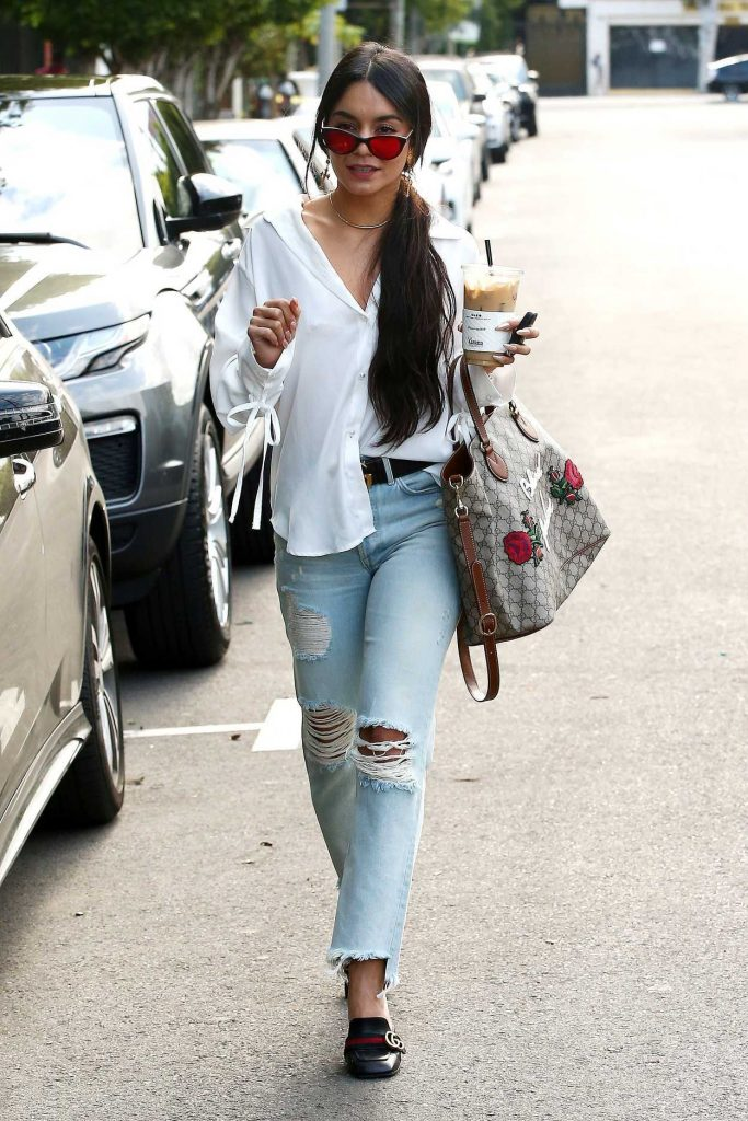 Vanessa Hudgens Stops at Alfred Coffee in West Hollywood 05/15/2017-2