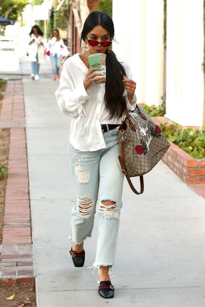 Vanessa Hudgens Stops at Alfred Coffee in West Hollywood 05/15/2017-3