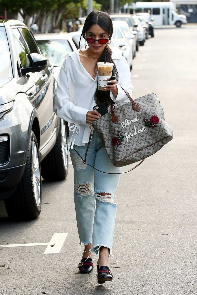 Vanessa Hudgens Stops at Alfred Coffee in West Hollywood 05/15/2017-4