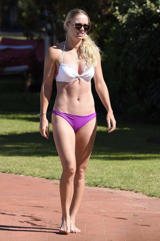 Caroline Wozniacki in Bikini by the Pool in Italy 06/13/2017-1