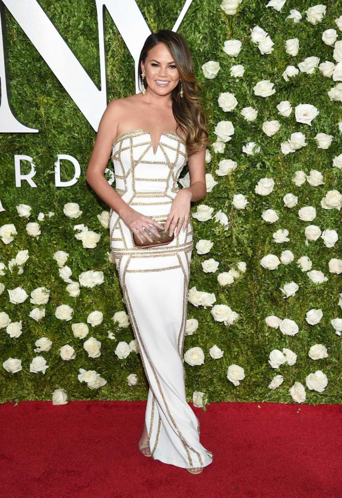 Chrissy Teigen at the 71st Annual Tony Awards at Radio City Music Hall in New York 06/11/2017-1