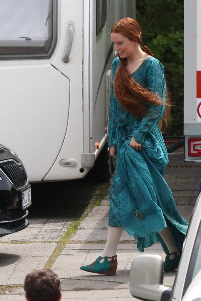Daisy Ridley on the Set of Ophelia in Krivoklad, Czech Republic 06/04/2017-2