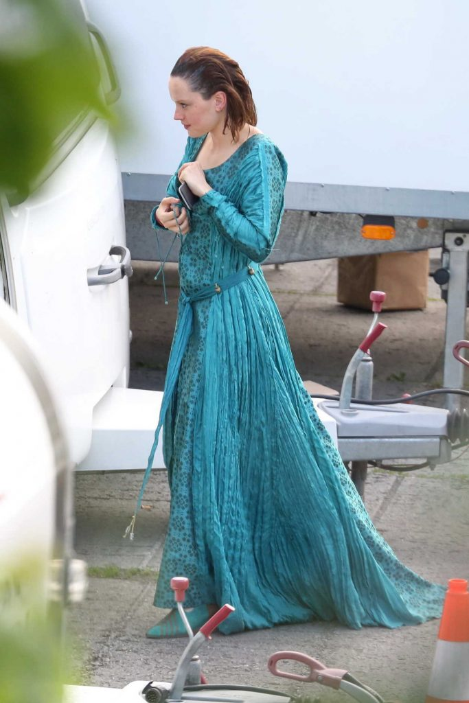 Daisy Ridley on the Set of Ophelia in Krivoklad, Czech Republic 06/04/2017-3