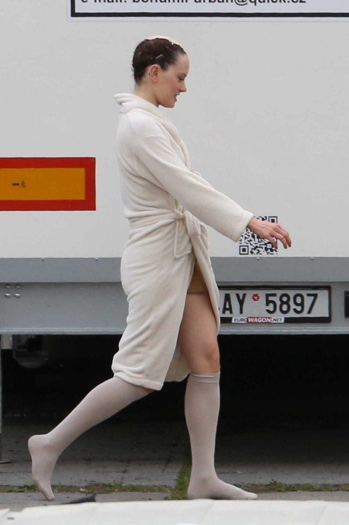 Daisy Ridley on the Set of Ophelia in Krivoklad, Czech Republic 06/04/2017-5