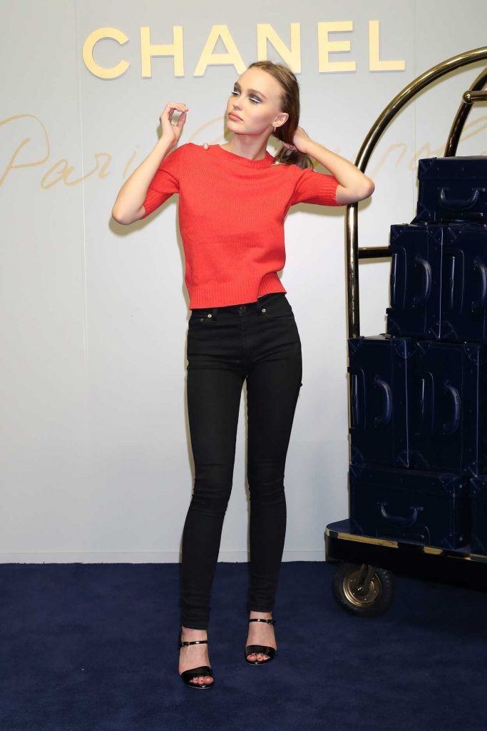 Lily-Rose Depp at the Chanel Metiers d'Art Collection Presentation in Tokyo 05/31/2017-3
