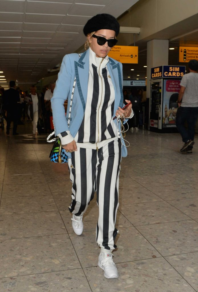 Rita Ora Arrives at Heathrow Airport in London 06/14/2017-1
