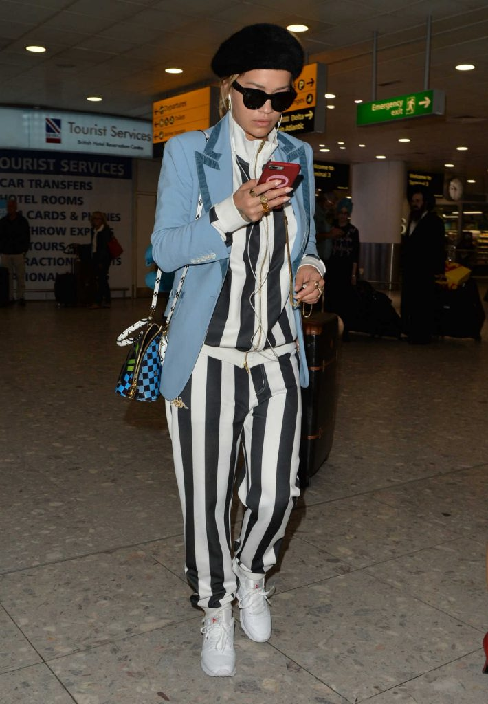 Rita Ora Arrives at Heathrow Airport in London 06/14/2017-2