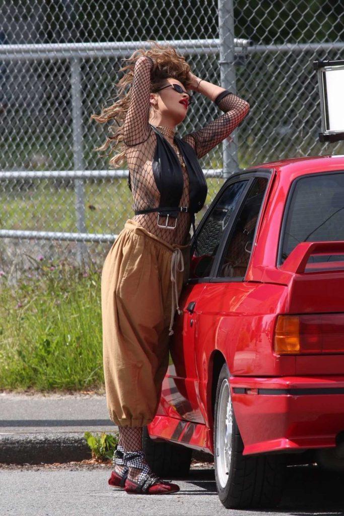 Rita Ora Films a Music Video in Vancouver 06/10/2017-1