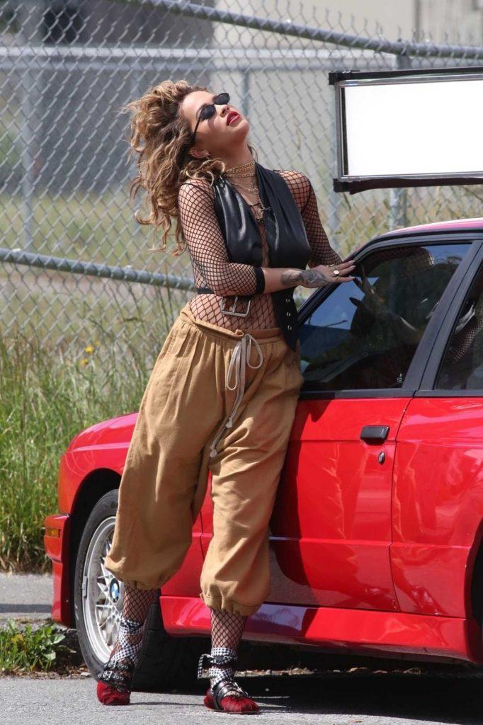 Rita Ora Films a Music Video in Vancouver 06/10/2017-2