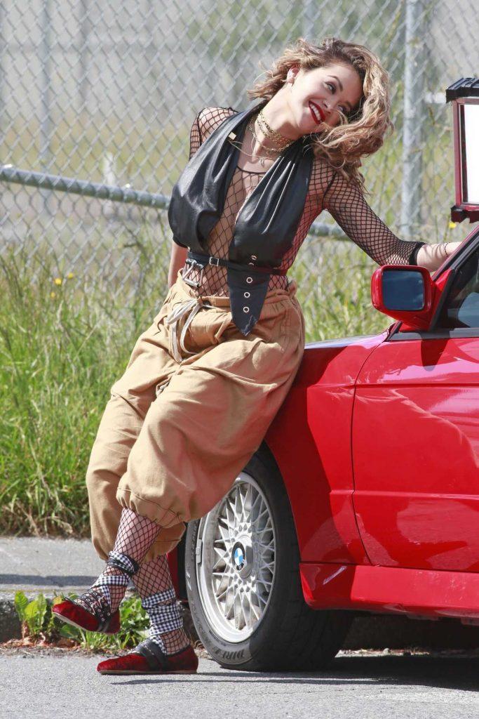 Rita Ora Films a Music Video in Vancouver 06/10/2017-3