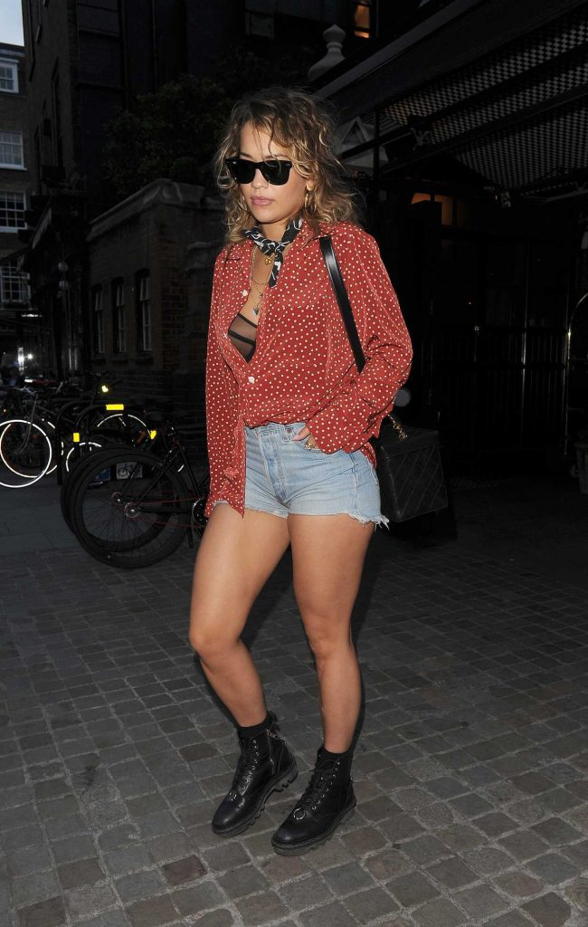 Rita Ora Leaves Chanel Store on Bond Street in Mayfair, London 06/26/2017-3